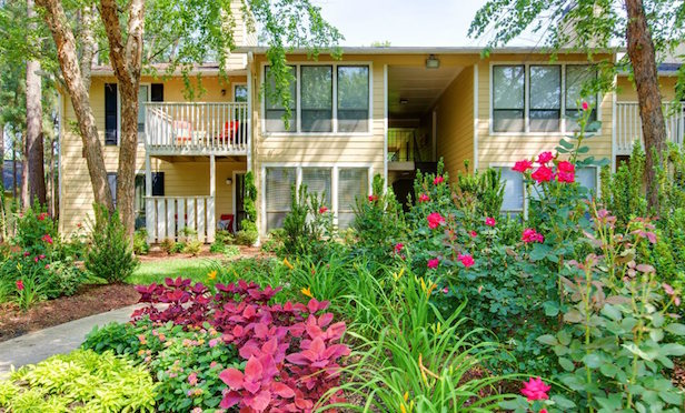 Laurel Oaks managed by Madison Apartment Group in Raleigh, NC, part of portfolio Investcorp acquired/ Image provided by Equus