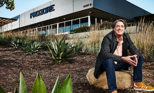 Tooey Courtemanche, founder and CEO of Procore, in front of Procore's headquarters, Carpinteria, CA/ image courtesy of Procore